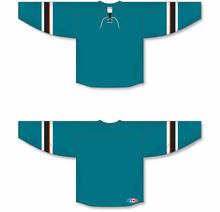 Load image into Gallery viewer, 2013 SAN JOSE PACIFIC TEAL Pro Blank Hockey Jerseys