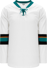 Load image into Gallery viewer, 2013 San Jose White Pro Blank Hockey Jerseys