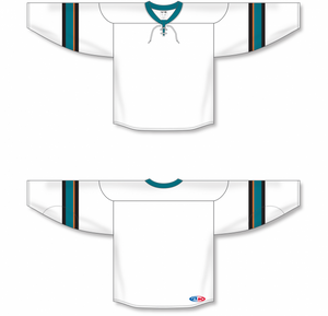 2013 San Jose White Pro Blank Hockey Jerseys