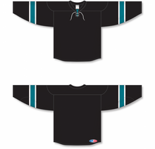 Load image into Gallery viewer, 2008 SAN JOSE 3RD BLACK Pro Blank Hockey Jerseys