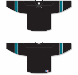 2008 SAN JOSE 3RD BLACK Pro Blank Hockey Jerseys