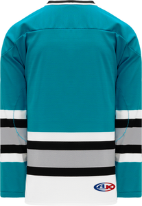 SAN JOSE TEAL Sleeve Stripes Pro Blank Hockey Jerseys