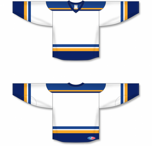 2014 ST. LOUIS WHITE Blank Hockey Jerseys