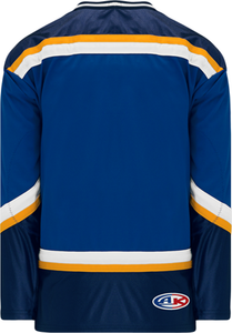 1998 ST. LOUIS ROYAL Navy, White, Gold Pro Blank Hockey Jerseys