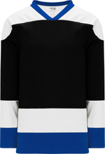 Load image into Gallery viewer, TAMPA BAY BLACK Sleeve Stripes Pro Blank Hockey Jerseys