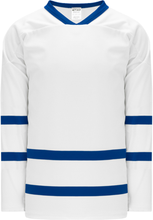 Load image into Gallery viewer, NEW TORONTO WHITE Sleeve Stripes Pro Blank Hockey Jerseys