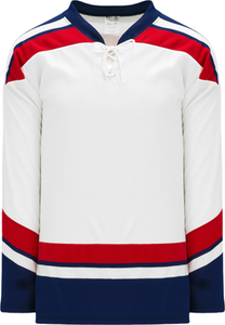 2005 TEAM USA WHITE Blank Hockey Jerseys