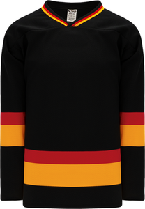 VANCOUVER BLACK Sleeve Stripes Pro Blank Hockey Jerseys
