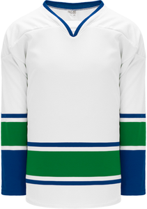 2008 VANCOUVER WHITE Blank Hockey Jerseys