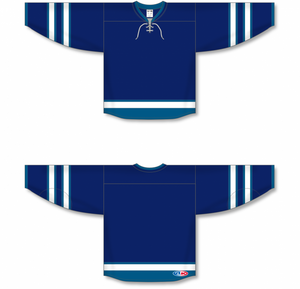 2011 WINNIPEG NAVY Blank Hockey Jerseys