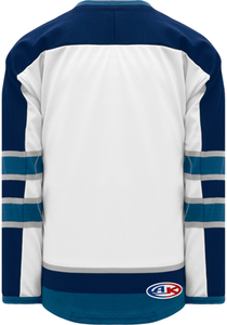 2011 WINNIPEG WHITE Blank Hockey Jerseys