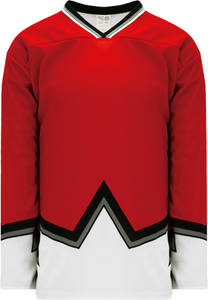 Sublimated 67's Red Pro Blank Hockey Jerseys
