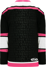 Load image into Gallery viewer, BREAST CANCER AWARENESS BLACK Pro Blank Hockey Jerseys