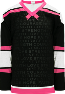 BREAST CANCER AWARENESS BLACK Pro Blank Hockey Jerseys