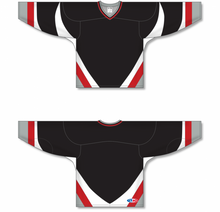 Load image into Gallery viewer, Black, White, Red, Grey Knitted Body And Sleeve Inserts Pro Blank Hockey Jerseys
