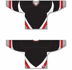 Black, White, Red, Grey Knitted Body And Sleeve Inserts Pro Blank Hockey Jerseys