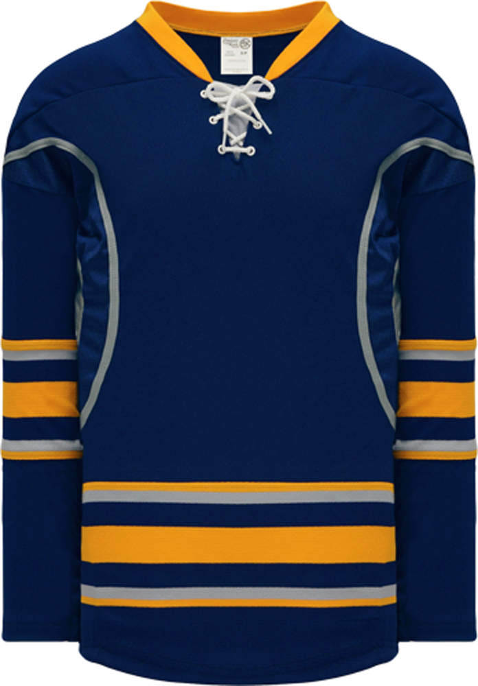 2009 BUFFALO 3RD NAVY Durastar Mesh Side Pro Blank Hockey Jerseys