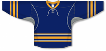 Load image into Gallery viewer, 2009 BUFFALO 3RD NAVY Durastar Mesh Side Pro Blank Hockey Jerseys