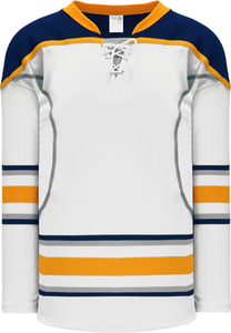 2009 BUFFALO 3RD WHITE Pro Blank Hockey Jerseys