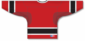 2002 TEAM CANADA RED Square V-neck Pro Blank Hockey Jerseys
