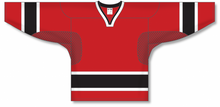 Load image into Gallery viewer, 2002 TEAM CANADA RED Square V-neck Pro Blank Hockey Jerseys