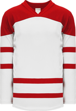 Load image into Gallery viewer, 2010 TEAM CANADA WHITE Square Short V-neck Pro Blank Hockey Jerseys