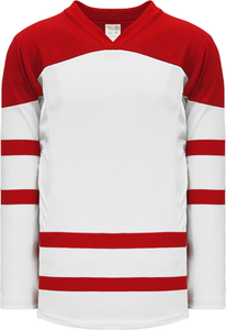 2010 TEAM CANADA WHITE Square Short V-neck Pro Blank Hockey Jerseys