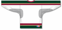 Load image into Gallery viewer, MINNESOTA WILD WHITE Open Mesh Pro Blank Hockey Jerseys