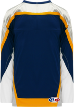 Load image into Gallery viewer, NASHVILLE NAVY V-neck Pro Blank Hockey Jerseys