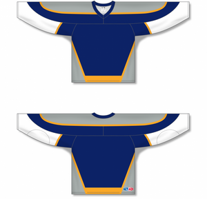 NASHVILLE NAVY V-neck Pro Blank Hockey Jerseys