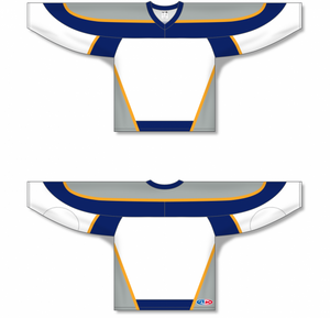 NASHVILLE WHITE Gussets Pro Blank Hockey Jerseys