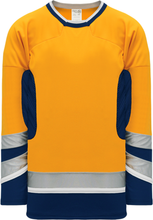 Load image into Gallery viewer, 2002 NASHVILLE 3RD GOLD Box Neck Pro Blank Hockey Jerseys