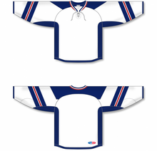 Load image into Gallery viewer, RANGERS STADIUM SERIES WHITE Lace Neck Pro Blank Hockey Jerseys