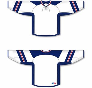 RANGERS STADIUM SERIES WHITE Lace Neck Pro Blank Hockey Jerseys