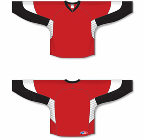 2010 OTTAWA RED Gussets Pro Blank Hockey Jerseys
