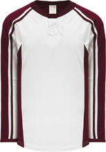 Load image into Gallery viewer, PETERBOROUGH MAROON Lace Neck Pro Blank Hockey Jerseys
