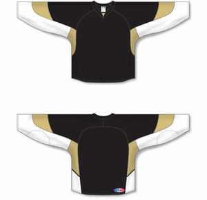 2010 PITTSBURGH BLACK Gussets Pro Blank Hockey Jerseys