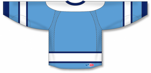 2008 PITTSBURGH 3RD SKY BLUE Pro Blank Hockey Jerseys