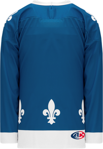 2011 QUEBEC BLUE Sublimated Pro Blank Hockey Jerseys