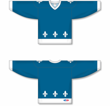 Load image into Gallery viewer, 2011 QUEBEC BLUE Sublimated Pro Blank Hockey Jerseys