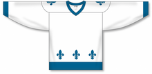 Load image into Gallery viewer, 2011 QUEBEC WHITE Sublimated Blank Hockey Jerseys