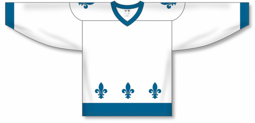 2011 QUEBEC WHITE Sublimated Blank Hockey Jerseys