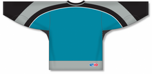 Load image into Gallery viewer, NEW SAN JOSE 3RD TEAL Gussets Pro Blank Hockey Jerseys