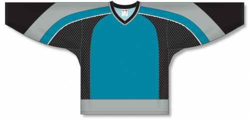 NEW SAN JOSE 3RD TEAL Gussets Pro Blank Hockey Jerseys