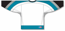Load image into Gallery viewer, NEW SAN JOSE 3RD WHITE Gussets Pro Blank Hockey Jerseys