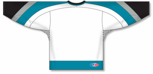 NEW SAN JOSE 3RD WHITE Gussets Pro Blank Hockey Jerseys