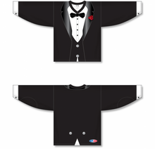 Load image into Gallery viewer, TUXEDO Sublimated BLACK Pro Blank Hockey Jerseys