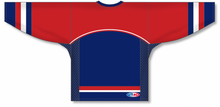 Load image into Gallery viewer, 2002 TEAM USA NAVY Square V-neck Pro Blank Hockey Jerseys