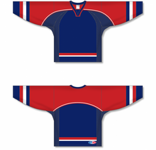 Load image into Gallery viewer, 2006 TEAM USA WHITE Sublimated Sleeve Stripes Pro Blank Hockey Jerseys