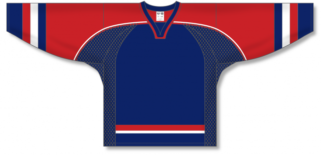 2002 TEAM USA NAVY Square V-neck Pro Blank Hockey Jerseys